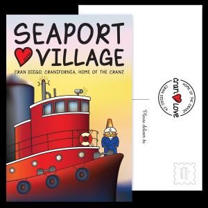 Captain Crandon's Seaport Village Postcard Set