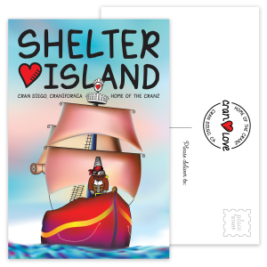 Sir Crabbe's Shelter Island Postcard Set