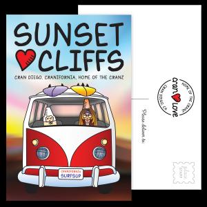 Love Bus Sunset Cliffs Postcard Set